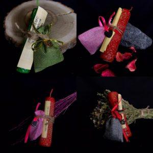 Свечи-программы с ведьмиными мешочками